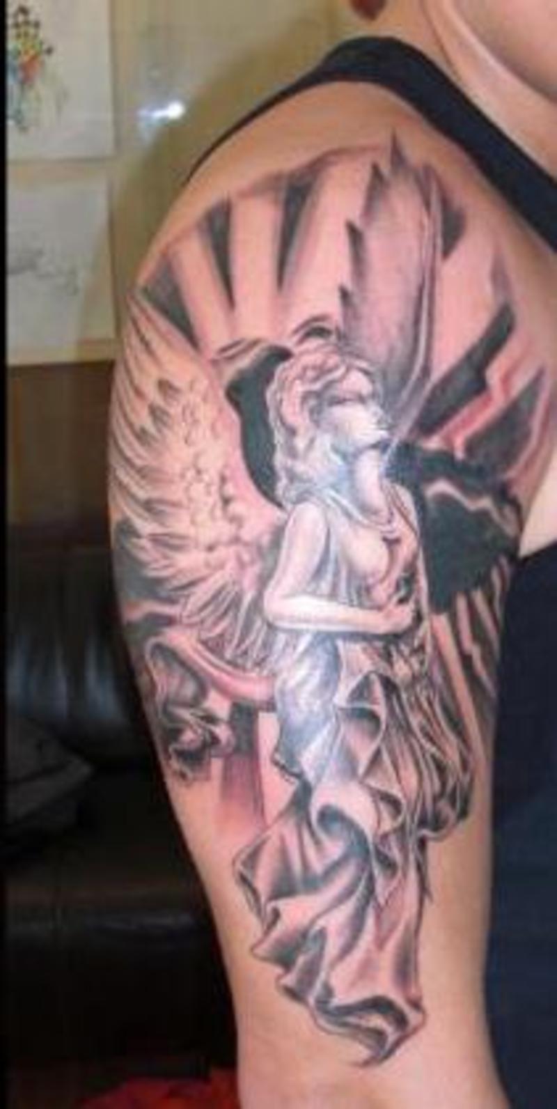 Angel Tattoos Pictures Video Amp Information On Shoulder Angel