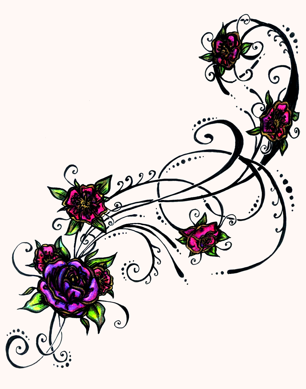 flower tattoos designs ideas and meaning tattoos for you. Black Bedroom Furniture Sets. Home Design Ideas