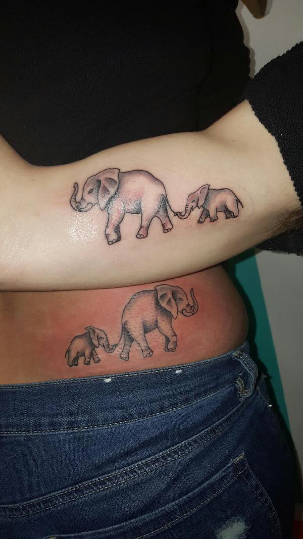 son tattoos mother tattoo matching designs child meaning mom sons mothers tatoos forearm elephant ink children tats initials tattoosforyou